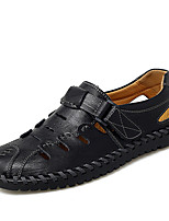 cheap -Men's Boots Moccasin Athletic Daily Faux Leather Light Brown Dark Brown Black Spring Summer