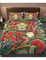 cheap -3D Digital Dragon Print 3-Piece Duvet Cover Set Hotel Bedding Sets with Soft Lightweight Microfiber, Include 1 Duvet Cover, 2 Pillowcases for Double/Queen/King(1 Pillowcase for Twin/Single)