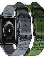 cheap -Smart watch band compatible with apple watch band 38mm 40mm 42mm 44mm  double-layer nylon sport strap with metal buckle compatible with iwatch series 6 5 4 3 2 1 se (gray+army green, 38mm/40mm)