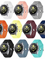 cheap -Smart watch band 10pcs galaxy watch 3 bands,22mm quick release silicone bands for samsung galaxy watch 3(45mm)/gear s3 frontier, classic/galaxy watch(46mm) (10-pack, silver buckle)