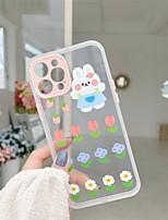 preiswerte -Telefon Hülle Handyhüllen Für Apple Rückseite iPhone 12 Pro Max 11 SE 2020 X XR XS Max 8 7 Stoßresistent Staubdicht Karikatur Blume TPU