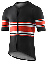 cheap -21Grams Men's Short Sleeve Cycling Jersey Summer Spandex Polyester Black Stripes Bike Jersey Top Mountain Bike MTB Road Bike Cycling Quick Dry Moisture Wicking Breathable Sports Clothing Apparel