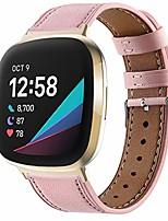 cheap -Smart watch band colored pu leather strap for fitbit versa3 / sense smart watch