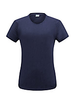 cheap -Women's T shirt Hiking Tee shirt Short Sleeve Crew Neck Tee Tshirt Top Outdoor Ultra Light (UL) Quick Dry Lightweight Breathable Spring Summer Nylon Spandex Solid Color Purple Blue Green Hunting