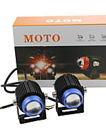 cheap -car and motorcycle spotlights led headlights electric car modified lights small steel cannon spotlights headlights white and yellow double color