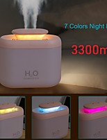 cheap -3300ml Electric Humidifier Household Dual Spray Aromatherapy Large Air Purifier Essential Aroma Oil Diffuser Dual Nozzles USB Mist Maker LED light