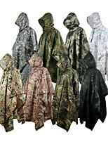 cheap -Women's Men's Rain Poncho Hiking Raincoat Rain Jacket Autumn / Fall Winter Spring Summer Outdoor Camo / Camouflage Quick Dry Lightweight Breathable Sweat wicking Poncho Top Hunting Fishing Climbing