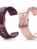 cheap -smartwatch band replacement wristbands, adjustable smartwatch replacement bands for id205l fitness wristwatch, with 2-pack (pink purple)