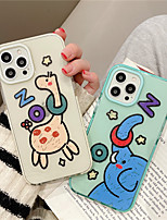 cheap -Phone Case For Apple Back Cover iPhone 12 Pro Max 11 SE 2020 X XR XS Max 8 7 Shockproof Dustproof Cartoon Animal TPU