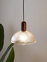 cheap -LED Industrial Pendant Light Wood Glass Vintage 20/25/30/38 cm Style Glass Bowl Painted Finishes Vintage Country Cafes Dining Room Kitchen Living Room Lights