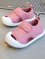 cheap -2021 summer new products casual children's mesh sandals velcro middle and small children solid color sandals hollow children's shoes