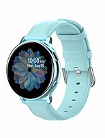 cheap -Smartwatch band compatible with galaxy watch 42mm bracelet, galaxy watch 3 41mm / galaxy watch active 3, leather softly adjustable watch band (light blue)