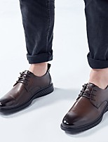 cheap -Men's Oxfords Business Classic Party & Evening Office & Career Cowhide Breathable Non-slipping Wear Proof Booties / Ankle Boots Dark Brown Black Fall Spring