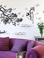 cheap -chinese ink landscape landscape calligraphy and painting wall stickers living room sofa tv background dining table wall decoration stickers 60*90CM