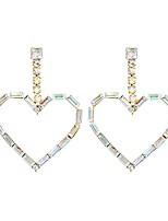 cheap -eorube fashion dangle earrings heart shaped holographic earrings for women boho dangle drop earring (holographic)