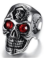 cheap -Men Ring tiny diamond Geometrical Silver Titanium Steel Skull Vintage 1pc / Men's
