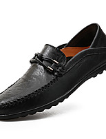 cheap -Men's Loafers & Slip-Ons Comfort Loafers Driving Shoes Drive Shoes Casual Daily PU Breathable Non-slipping Wear Proof Yellow Black Brown Fall Spring