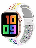 cheap -yaxin sport band compatible for apple watch bands 38mm 40mm 42mm 44mm, breathable soft silicone sport replacement strap women men compatible with iwatch series se/6/5/4/3/2/1, sport edition
