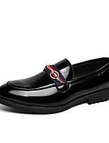 cheap -Men's Loafers & Slip-Ons Dress Loafers Penny Loafers Casual Classic Daily Office & Career PU Non-slipping Wear Proof Black Fall Spring