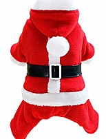 cheap -pet christmas clothing dog costume cotton coat vest warm and comfortable