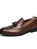 cheap -Men's Loafers & Slip-Ons Business Casual Vintage Daily Party & Evening Synthetics Black Brown Fall Winter / Tassel