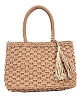 cheap -Women's Bags Straw Top Handle Bag Holiday Beach 2021 Khaki Beige