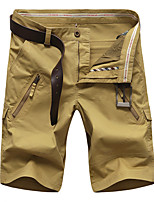 """cheap -Men's Hiking Shorts Hiking Cargo Shorts Military Solid Color Summer Outdoor 10"""" Ripstop Quick Dry Front Zipper Multi Pockets Cotton Knee Length Shorts Bottoms Red Army Green Blue Khaki Hunting"""