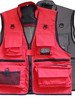 cheap -Men's Women's Hiking Fishing Vest Work Vest Outdoor Casual Lightweight with Multi Pockets Summer Travel Cargo Safari Photo Vest Wear Resistance Breathable Waistcoat Jacket Coat Top