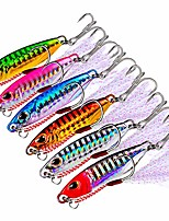cheap -1pcs lead jigging fishing lures,30g 65mm, offshore micro butterfly jigs for tuna king snapper dogtooth grouper bass, slow speed metal fishing jig lures with 4# bkb treble hook and assist hooks