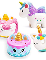 cheap -3 Pcs Jumbo Slow Rising Squishies Kawaii Colored Unicorn Unicorn Donut White Unicorn Mousse Cake and Blue Narwhal Cake Creamy Scent for Kids Party Toys Stress Reliever Toy - 3 Pack