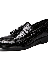 cheap -Men's Loafers & Slip-Ons Business Casual Classic Daily Party & Evening Synthetics Black Fall Winter