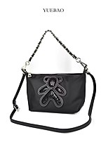 cheap -Women's Bags Oxford Cloth Cowhide Top Handle Bag Sequin Chain Character Holiday Outdoor Handbags Chain Bag Black