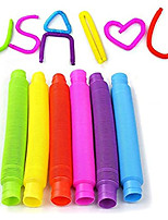 cheap -Pop Tubes Sensory Toy, 6 Pack Pipe Sensory Tools for Stress and Anxiety Relief,Educational STEM Toys for Construction and Building Activity (6 Pack)