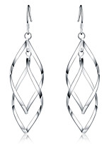 cheap -Women's Drop Earrings Geometrical Precious Fashion Silver Plated Earrings Jewelry Silver For Christmas Party Evening Street Gift Date 1 Pair