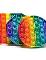 cheap -3 pcs Pop Fidget Reliver Stress Toys Rainbow Push It Bubble Antistress Toys Adult Children Sensory Toy To Relieve Autism