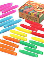 cheap -24 pack Fidget Pop Tube Toys for Kids and Adults, Pipe Sensory Tools for Stress and Anxiety Relief, Cool Bendable Multi-Color Stimming Toys Great as Gift, Party Favors, and Prizes for Fidgeters