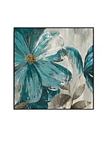 cheap -Oil Painting Handmade Hand Painted Wall Art Blue Flowers Abstract Paintings Home Decoration Decor Stretched Frame Ready to Hang
