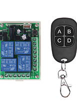 cheap -433Mhz DC 12V Universal Wireless RF Remote Control Switch 4CH Relay Radio Receiver Module And Smart Remote Controls Transmitters
