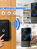 cheap -Wireless Doorbell UK Plug With 45pcs Songsand Four Volume Levels IP44 Waterproof 150-200m Easy To Install Wireless Doorbell