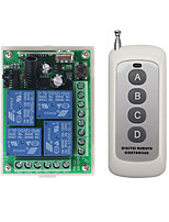 cheap -DC 12V 4CH Wireless Remote Control Switch 1 Receiver  1 Transmitters 433MHz/10A relay receiver /