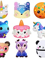 cheap -3 pcs Jumbo Squishy Kawaii Unicorn Horse Cake Deer Animal Panda Squishies Slow Rising Stress Relief Squeeze Toys for Kids