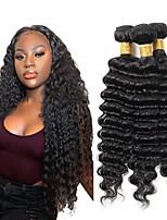 cheap -Hot selling natural color deep hair bundle 100% pure Brazilian virgin fake hair curtain 3 pieces of combination