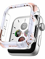 cheap -Smart watch Case suritch case for apple watch series 3/2/1 38mm with built in tempered glass screen protector hd clear shockproof slim bumper hard pc full protective cover for iwatch(gold marble)