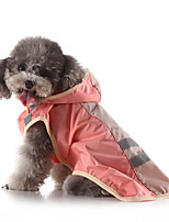 cheap -Dog Rain Coat Dog Costume Solid Colored Color Block Leisure Adorable Dailywear Casual / Daily Dog Clothes Puppy Clothes Dog Outfits Waterproof Yellow Blue Pink Costume for Girl and Boy Dog Polyester