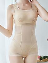 cheap -Women's Not Specified Overbust Corset - Fashion, Basic Black Beige M L XL