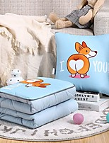 cheap -Pillow Quilt Multifunction Washed Cotton Cute Animal Comfortable Napping Pillow Car Purpose Cushion Office Nap Pillow Folding Blanket Sofa Pillow Air Conditioning Quilt
