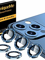cheap -[5 pack] uniqueme camera lens protector compatible for iphone 12 pro max 6.7 inch, [precise cutout] bling camera cover circle tempered glass - diamond blue