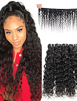 cheap -Ishow Brazilian Water Wave 100% Natural Color Human Hair Remy Hair Bundles Weave Extension Can Buy 4 Bundles Free Ship