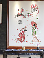 cheap -removable wall stickers wholesale creative character couple stickers background wall stickers self-adhesive waterproof decals 60*90cm