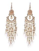 cheap -dangle earrings drop earrings bohemian style gems water drop tassel exaggerated earrings